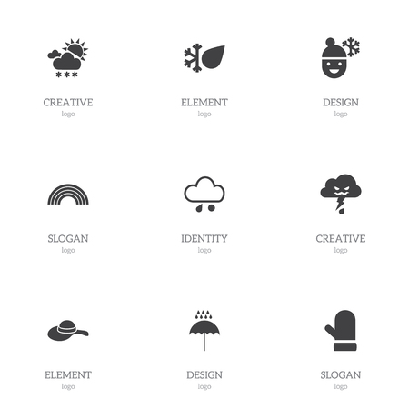 atmosphere: Set Of 9 Editable Air Icons.