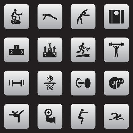 Set Of 16 Editable Lifestyle Icons