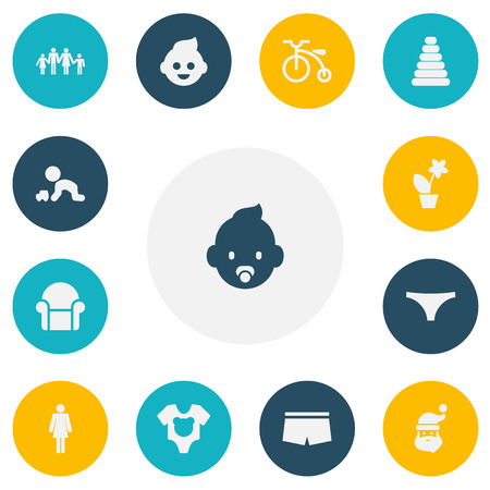 Set Of 13 Editable Folks Icons