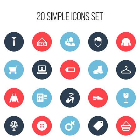 mujer en el supermercado: Set Of 20 Editable Business Icons. Includes Symbols Such As Explicit , Woman Symbol , Handcart