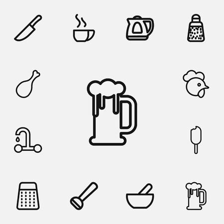 Set of meal icons.