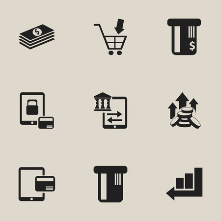 Set Of 9 Editable Investment Icons. Includes Symbols Such As Internet Sale, Increase, Salary And More. Can Be Used For Web, Mobile, UI And Infographic Design.