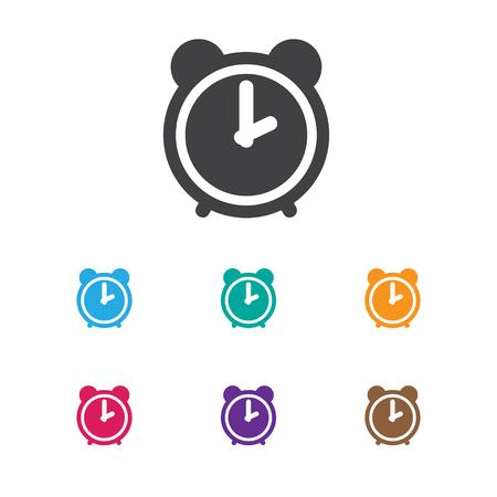 Vector Illustration Of Folks Symbol On Alarm Icon.