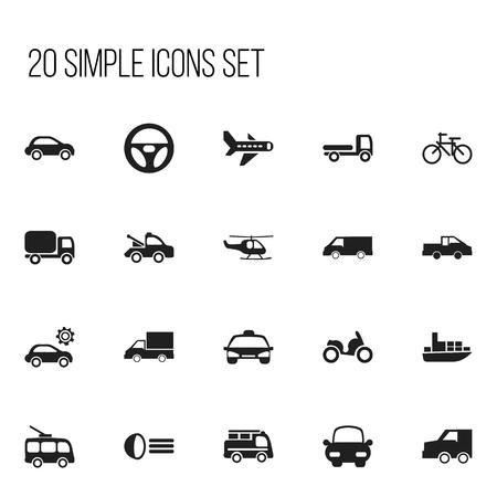 Set Of 20 Editable Shipment Icons. Illustration