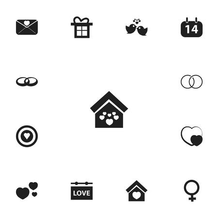Set Of 13 Editable Amour Icons. Ilustracje wektorowe