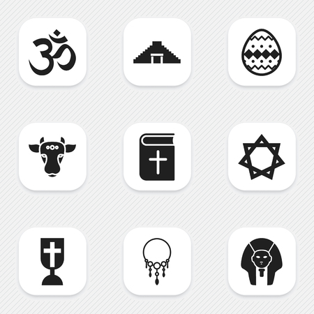 Set Of 9 Editable Dyne Icons. Stock fotó - 86845035