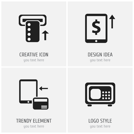 Set Of 4 Editable Investment Icons. Includes Symbols Such As Cash Growth, Safe, Introduce And More. Can Be Used For Web, Mobile, UI And Infographic Design.