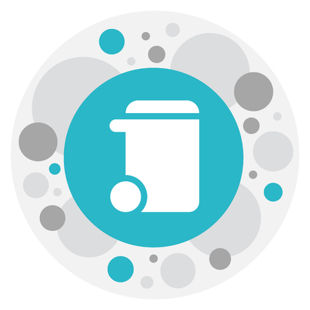 Vector Illustration Of Hygiene Symbol On Trash Can Icon. Premium Quality Isolated Dustbin Element In Trendy Flat Style. Illustration