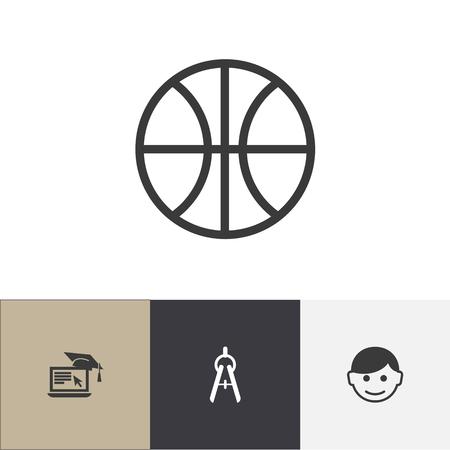 Set Of 4 Editable Science Icons. Illustration
