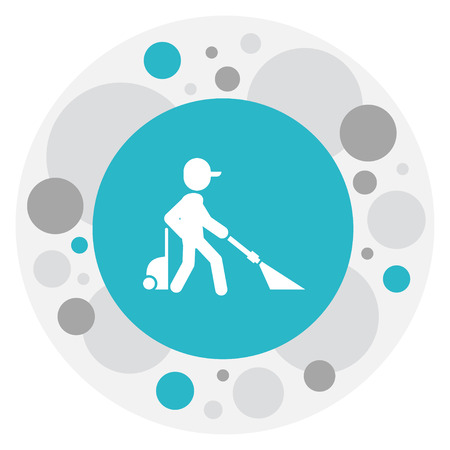 Illustration Of Cleanup Symbol On Cleaning Icon.