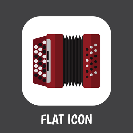 Illustration Of Sound Symbol On Accordion Icon. Illustration
