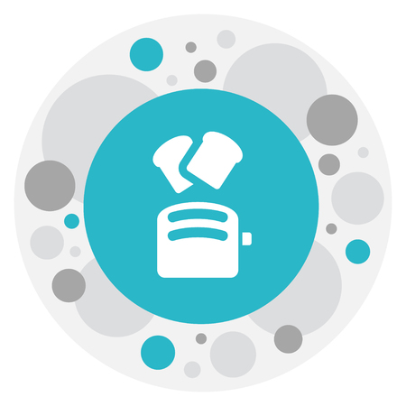 A Vector Illustration Of Cooking Symbol On Toaster Icon.
