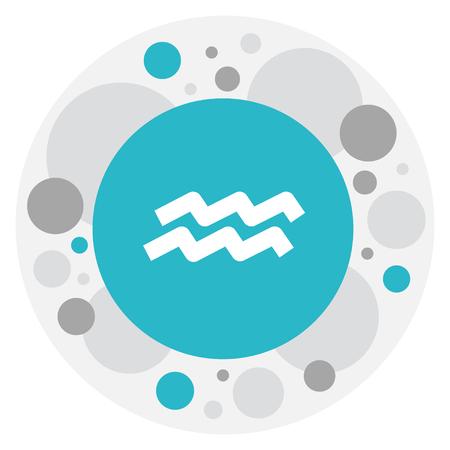 Climate Symbol On Aquarius Icon