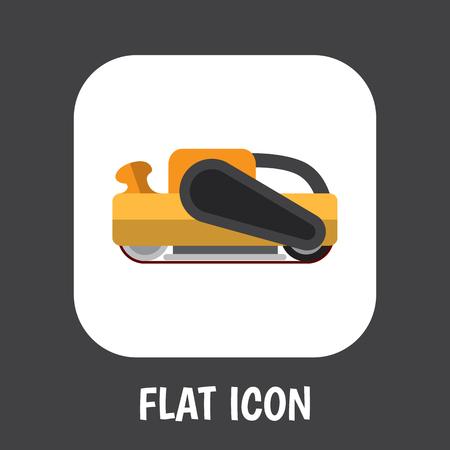 Vector Illustration Of Electric Symbol On Sander Flat Icon Illustration