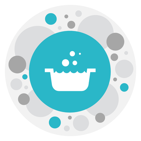 Vector Illustration Of Cleaning Symbol On Basin Icon