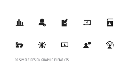 web marketing: Set Of 10 Editable Internet Icons. Includes Symbols Such As Thinking Man, Transfer, Skill And More