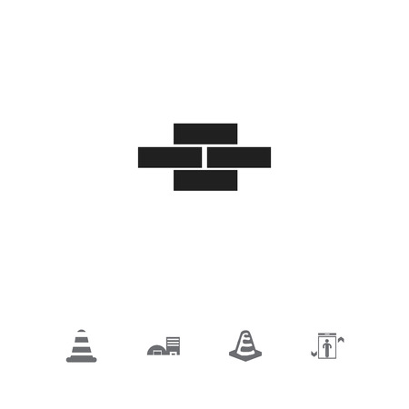 heavy industry: Set Of 5 Editable Structure Icons. Includes Symbols Such As Elevation, Estate, Stone And More Illustration