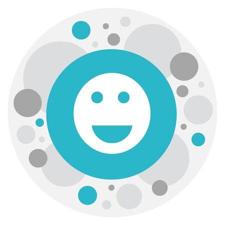 wap: Vector Illustration Of Internet Symbol On Smile Icon Illustration