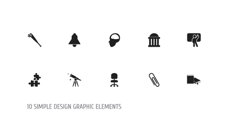 accessory: Set of 10 Editable Science Icons.