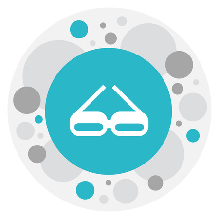 accessory: Illustration Of Office Symbol On Spectacle Icon. Illustration