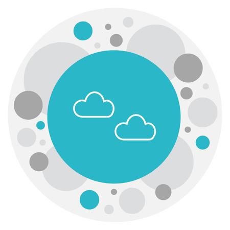 Vector Illustration Of Climate Symbol On Haze Icon Illustration