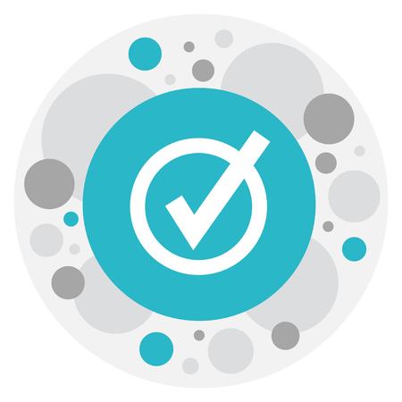 wap: Vector Illustration Of Web Symbol On Check Icon