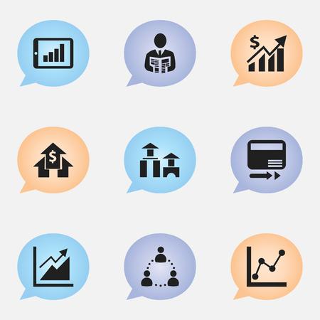 Set Of 9 Editable Analytics Icons