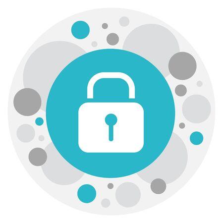 wap: Vector Illustration Of Internet Symbol On Padlock Icon. Premium Quality Isolated Security Element In Trendy Flat Style. Illustration