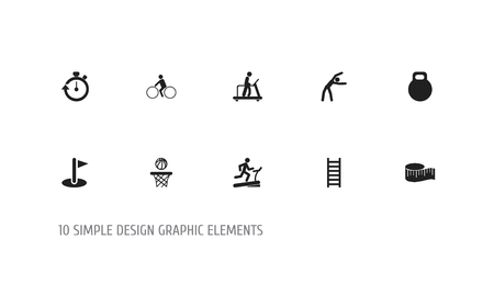 Set Of 10 Editable Sport Icons.