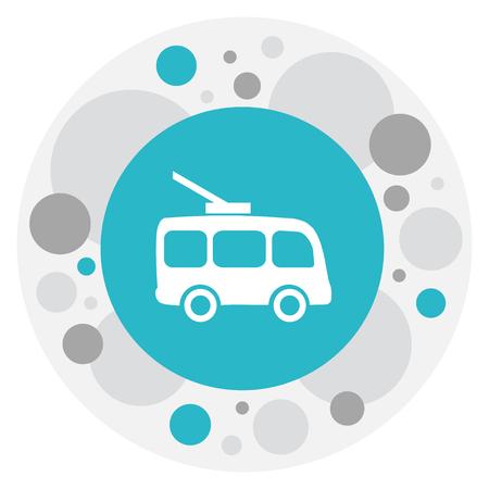 Illustration Of Transport Symbol On Trolleybus Icon.