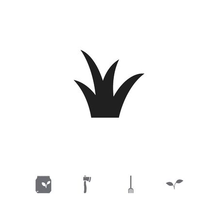 Set Of 5 Editable Agriculture Icons, includes Symbols Such As Grains, Tomahawk, Medical Herb And More.