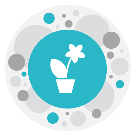 Illustration Of Relatives Symbol On Plant In Pot Icon.
