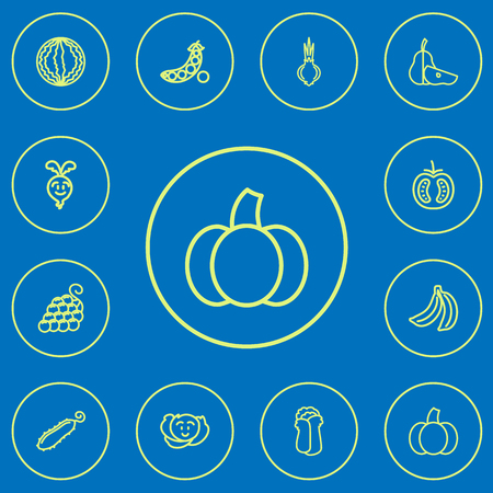 Set Of 12 Editable Cooking Outline Icons