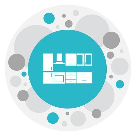 Vector Illustration Of Interior Symbol On Kitchen Furniture Icon Illustration