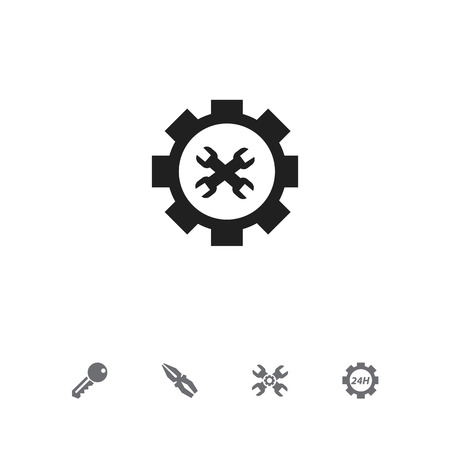 rackwheel: Set Of 5 Editable Repair Icons. Includes Symbols Such As Technical Support, Access, Options And More Illustration