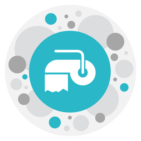 Vector Illustration Of Cleanup Symbol On Hygienic Towel Icon