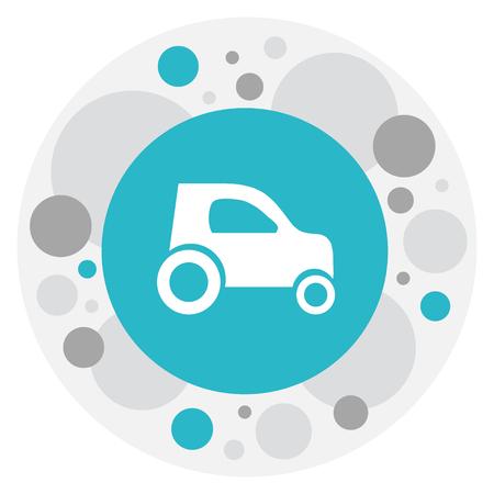 Vector Illustration Of Shipment Symbol On Hatchback Icon