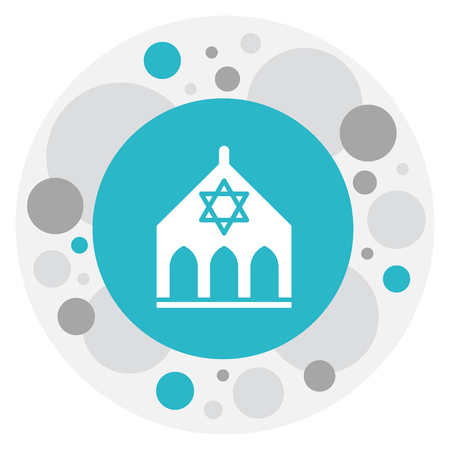 A vector illustration of faith symbol on synagogue icon.