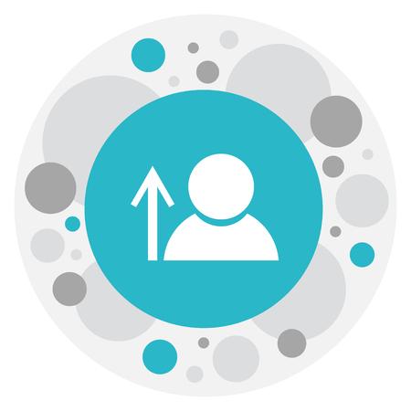 insider: Vector Illustration Of Network Symbol On Man Icon.