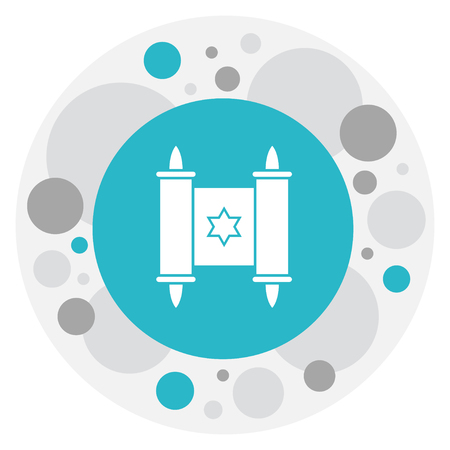 Vector Illustration Of Dyne Symbol On Shalom Icon. Premium Quality Isolated David Star Element In Trendy Flat Style.
