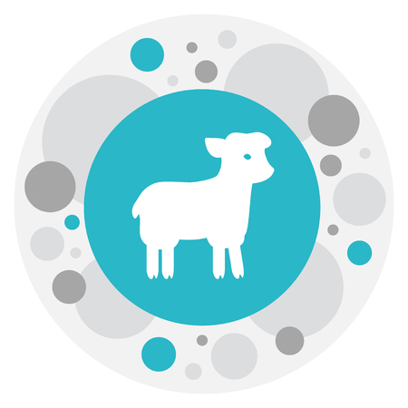 Vector Illustration Of Religion Symbol On Muslims Holiday Icon. Premium Quality Isolated Sacrifice Sheep Element In Trendy Flat Style.