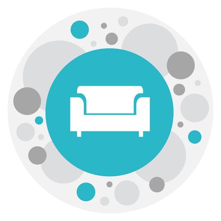 Vector Illustration Of Interior sofa Symbol On Canape Icon