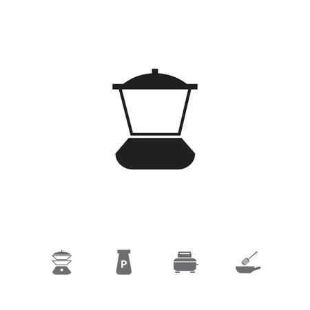 Set of 5 editable kitchen icons.