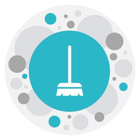 Vector Illustration Of Cleanup Symbol On Brush Icon. Premium Quality Isolated Whisk  Element In Trendy Flat Style.