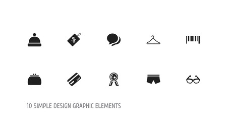 Set Of Editable Shopping Icons. Includes Symbols Such As Wallet, Premium, Swimming Trunks And More. Can Be Used For Web, Mobile, UI And Infographic Design. Illustration