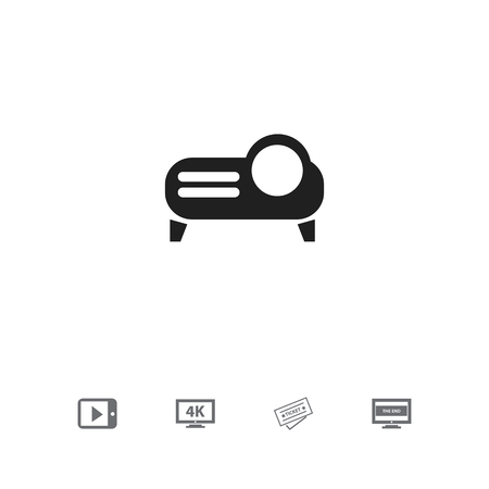 Set of 5 editable cinema icons.