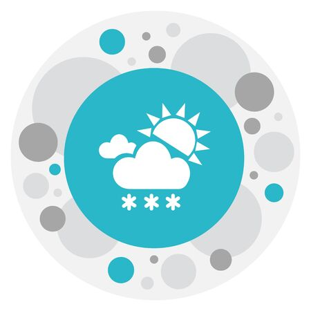 Vector Illustration Of Climate Symbol On Snowing Icon