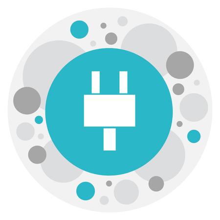 Vector Illustration Of Bureau Symbol On Plug Icon Illustration