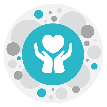 Heart In Hand Icon. Illustration