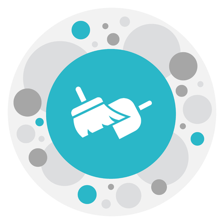 Sweeping Tools Icon. Illustration